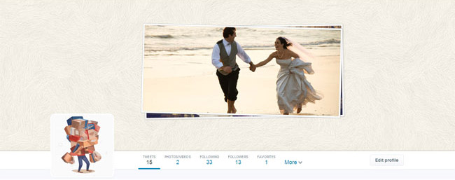 wedding twitter cover