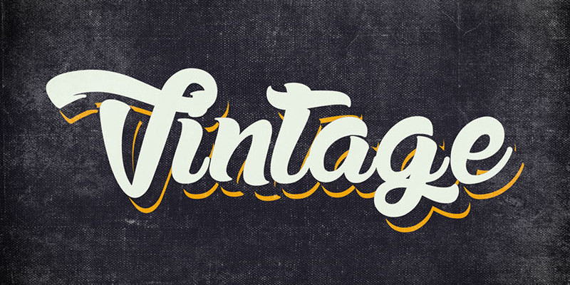 10 Free Vintage Text Style For Adobe Illustrator