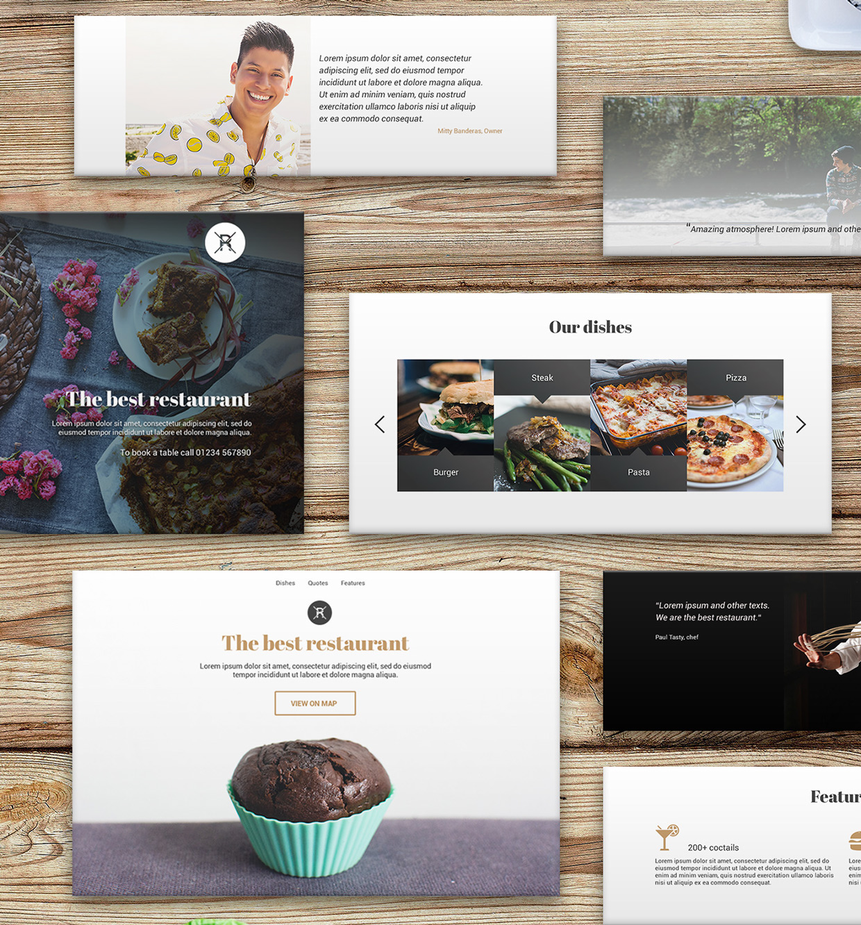 37 Free UX Psd Files of Restaurant Landing Page 2015  (2)