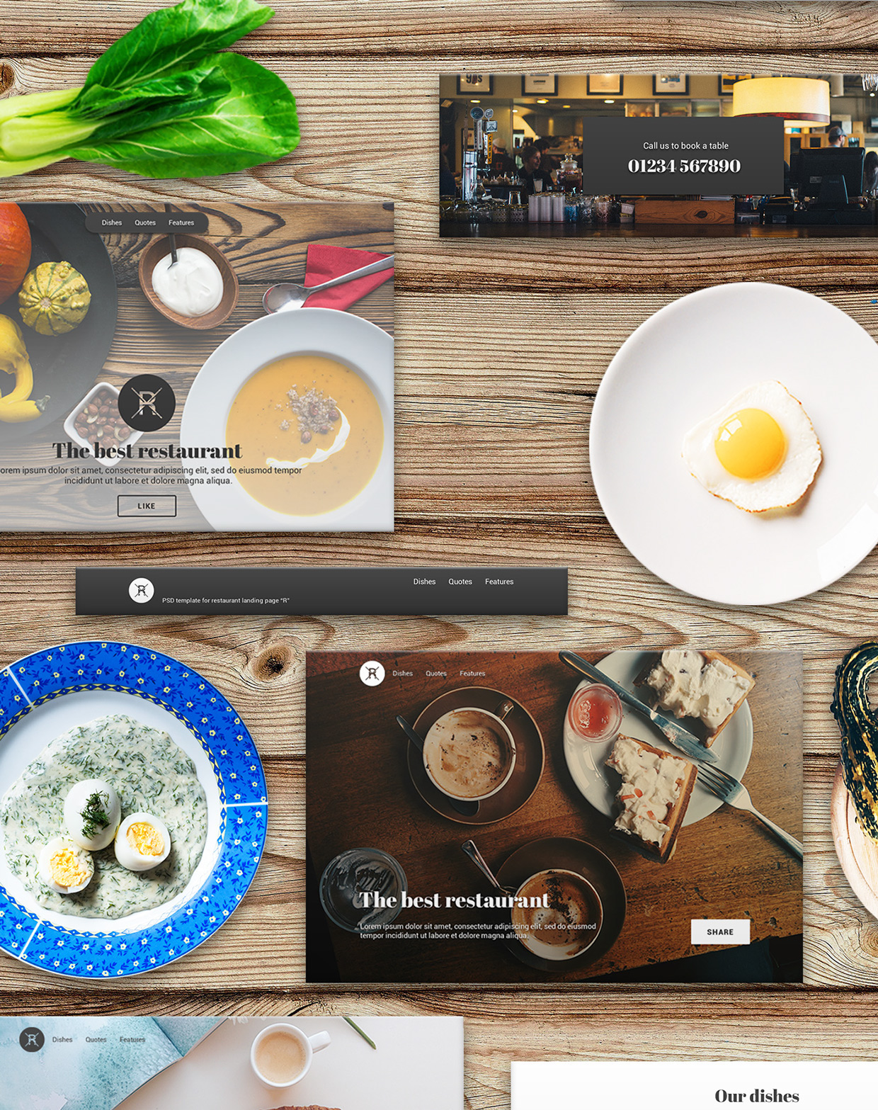 37 Free UX Psd Files of Restaurant Landing Page 2015  (3)