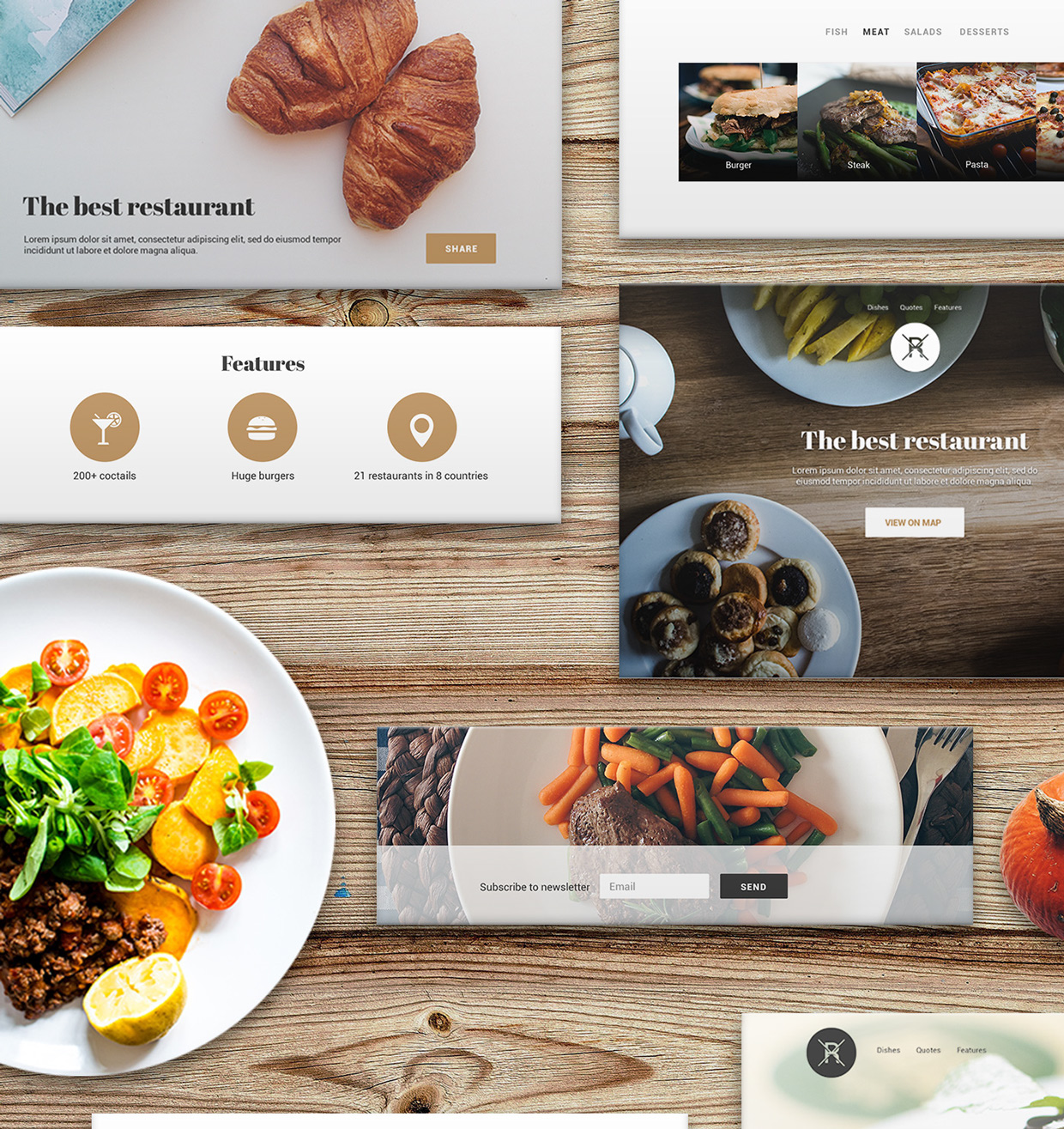 37 Free UX Psd Files of Restaurant Landing Page 2015  (4)