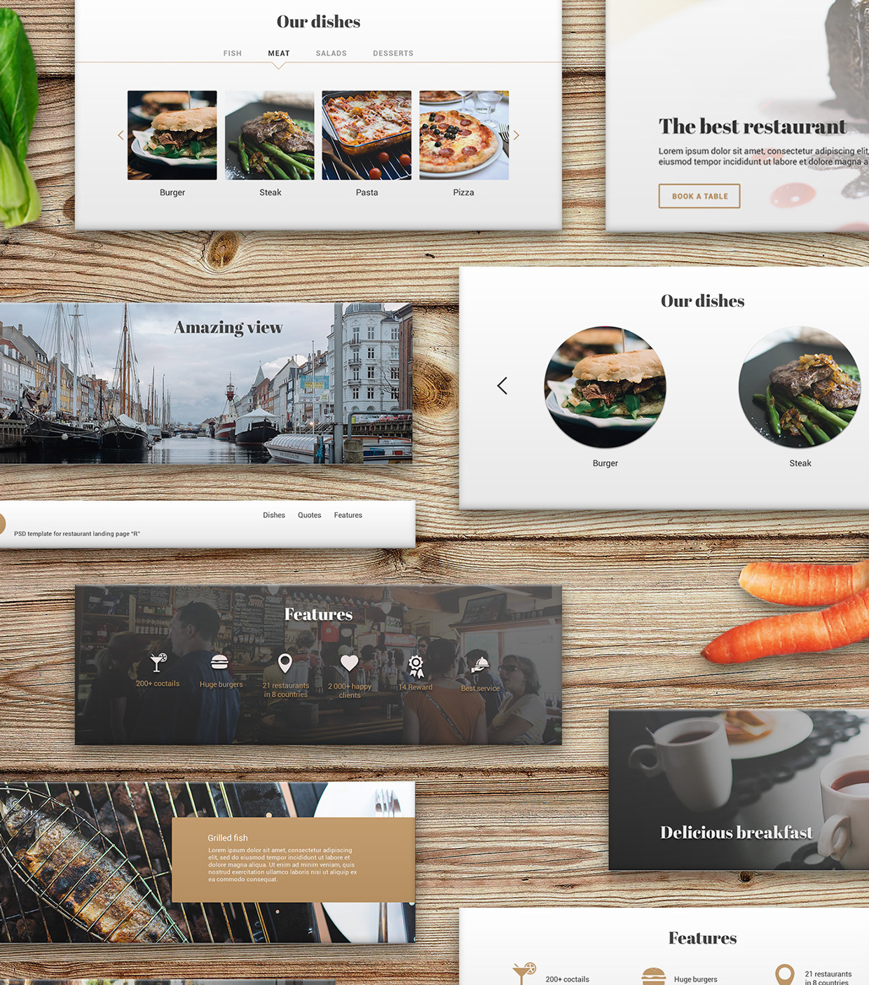 37 Free UX Psd Files of Restaurant Landing Page 2015  (5)