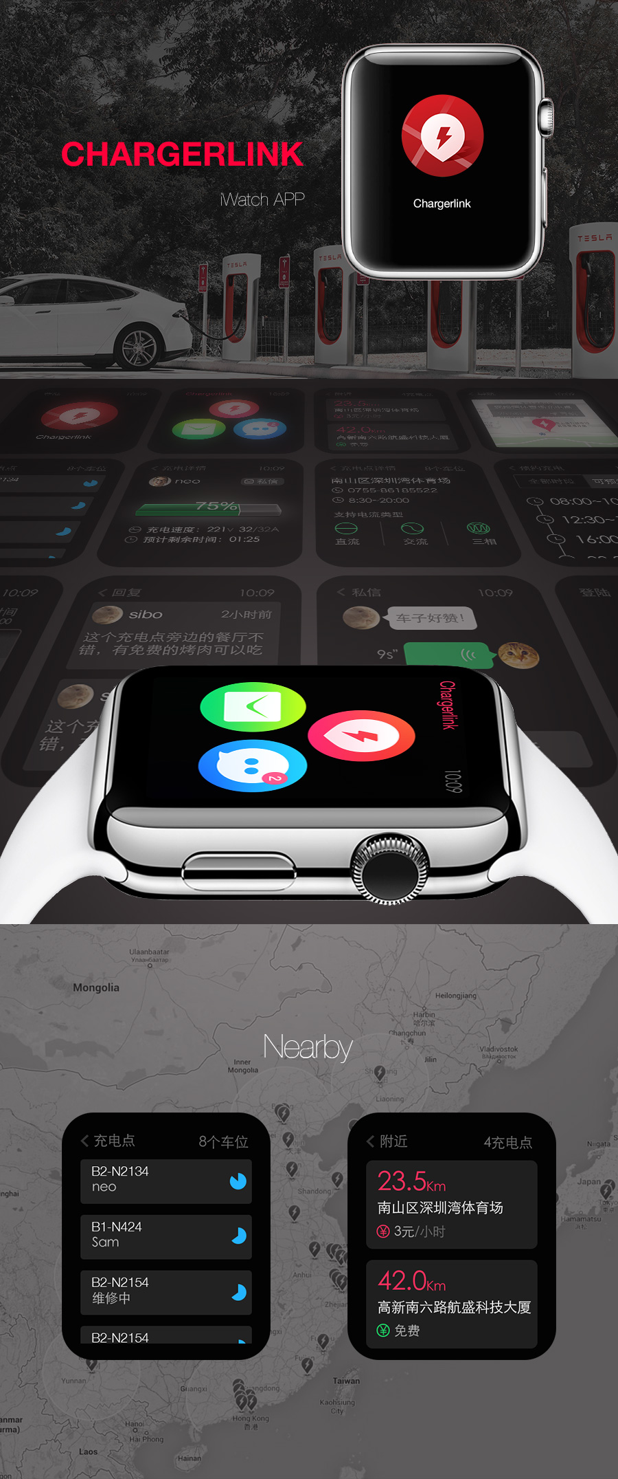Chargerlink Apple Watch GUI