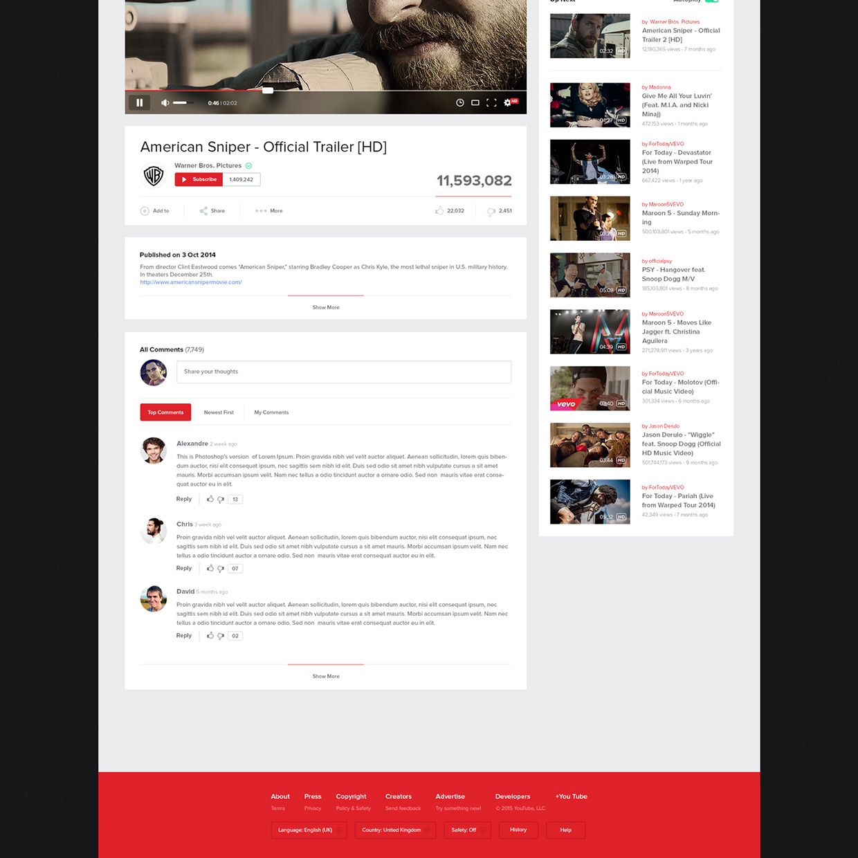 New UX Design Concept of YouTube 2015 By Lucas Nonato (10)