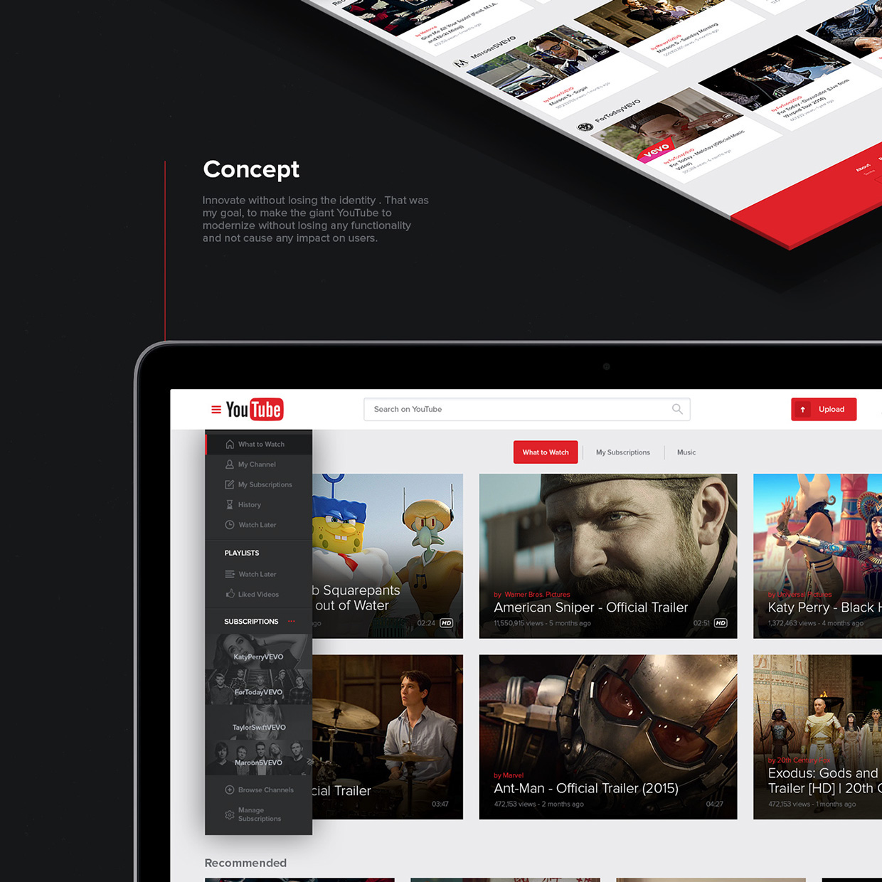 New UX Design Concept of YouTube 2015 By Lucas Nonato (2)