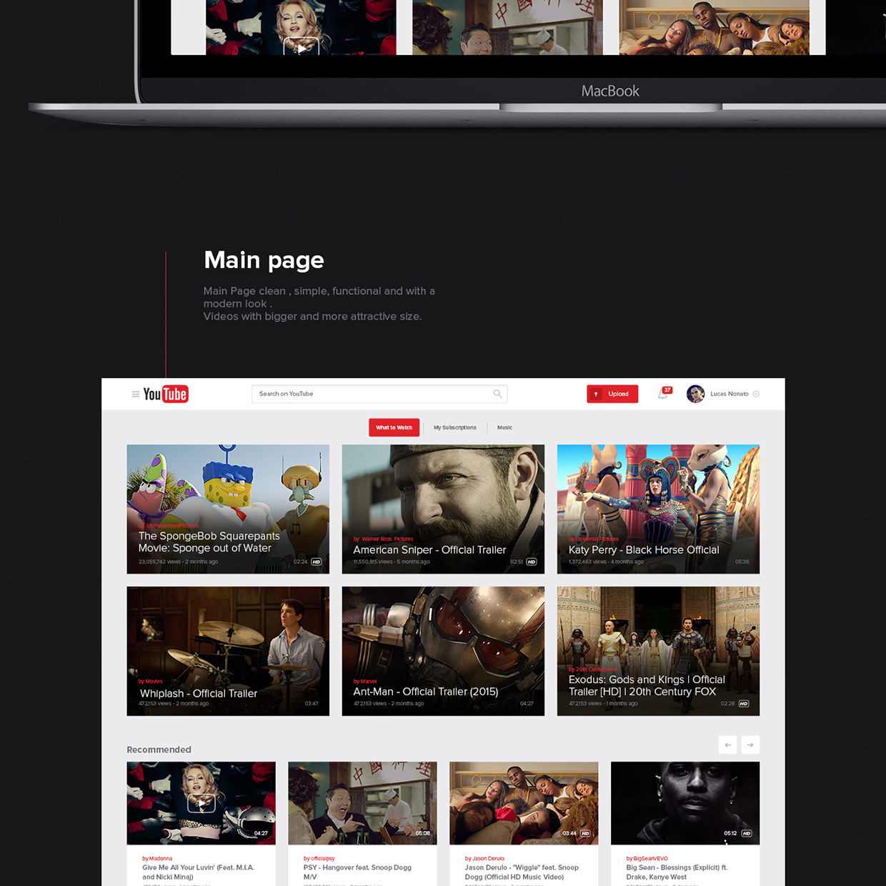 New UX Design Concept of YouTube 2015 By Lucas Nonato (3)