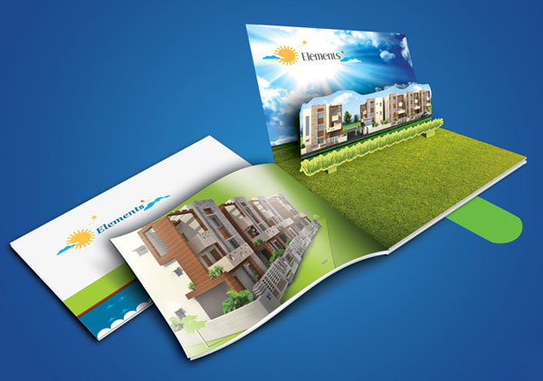Pop out brochure design