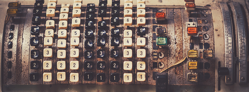 Vintage Cash Register Facebook Cover