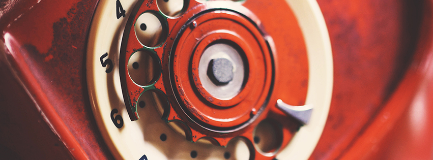 Vintage Phone Dial Facebook Cover