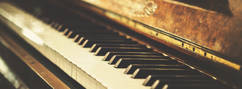 Vintage Piano Facebook Cover