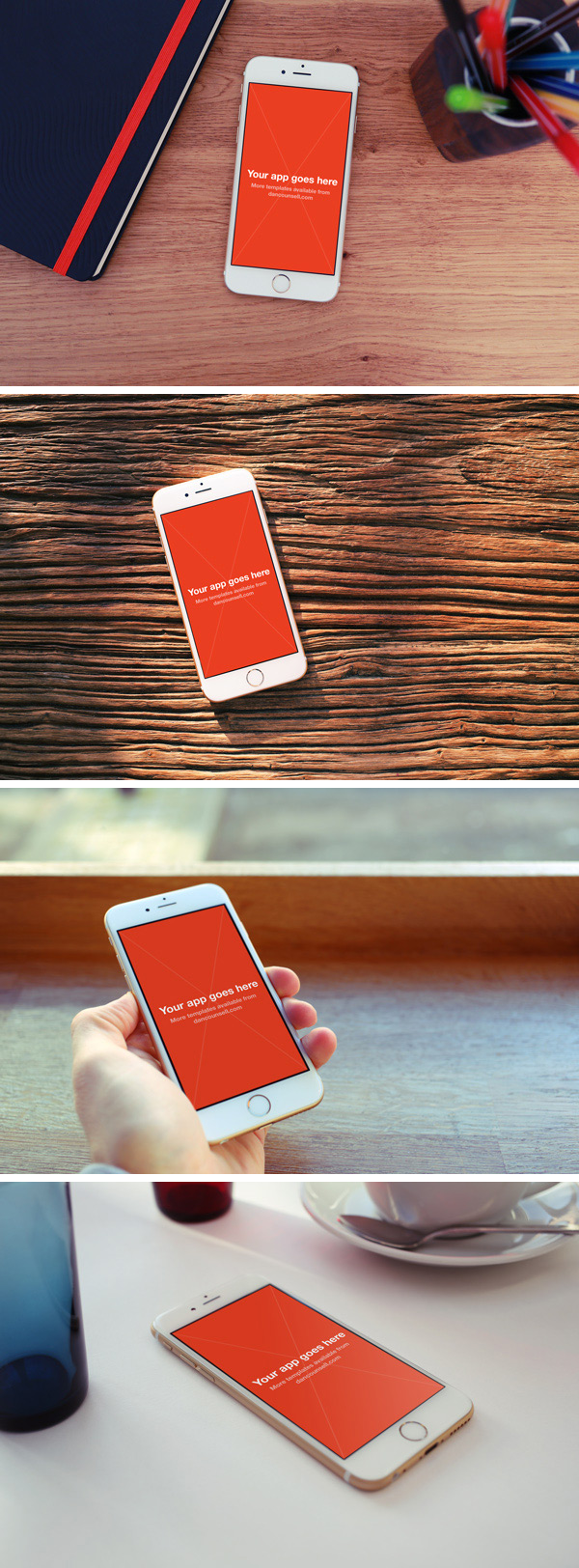 Free 4 iPhone 6 Photo MockUps