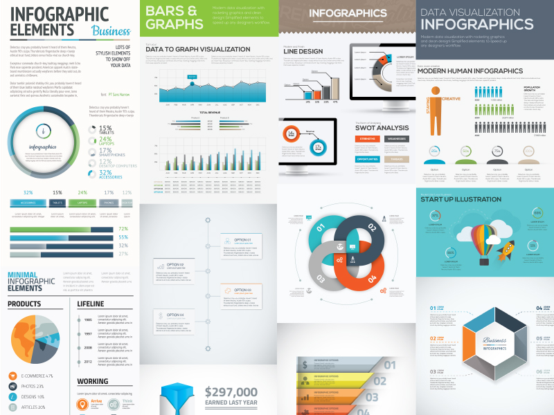 10 Free Infographic Templates For Adobe illustrator