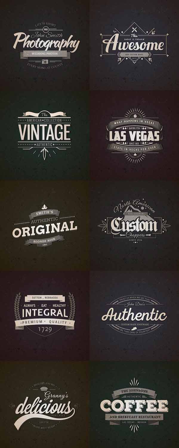10 Free Retro Vintage Vector Badges