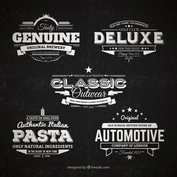 5 Free Retro Vector Badges