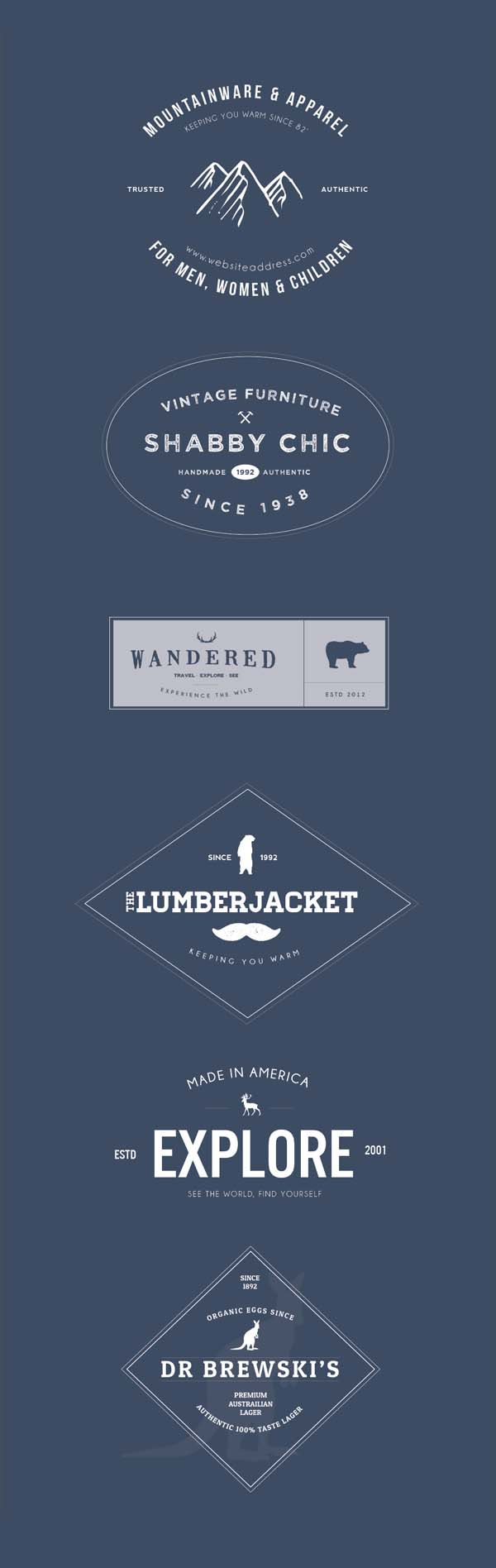 6 Free Vector Vintage Logo Badges