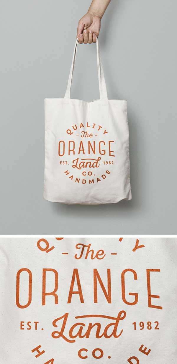 Free Canvas Tote Bag PSD MockUp