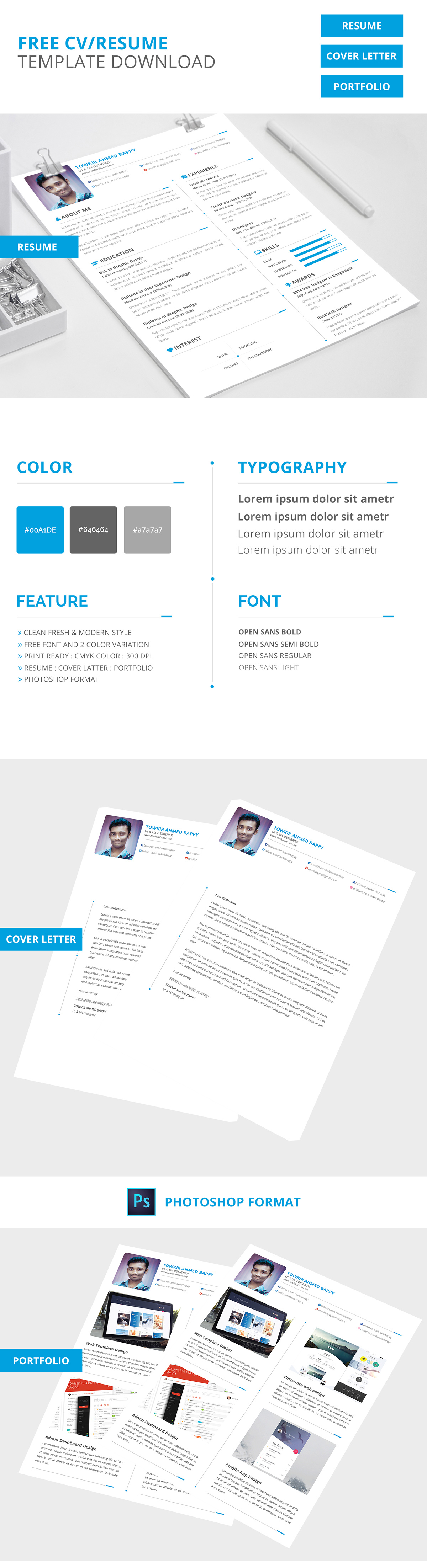 Free Creative Resume Template -1