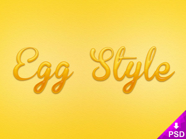Free Egg Text Layer Style Psd