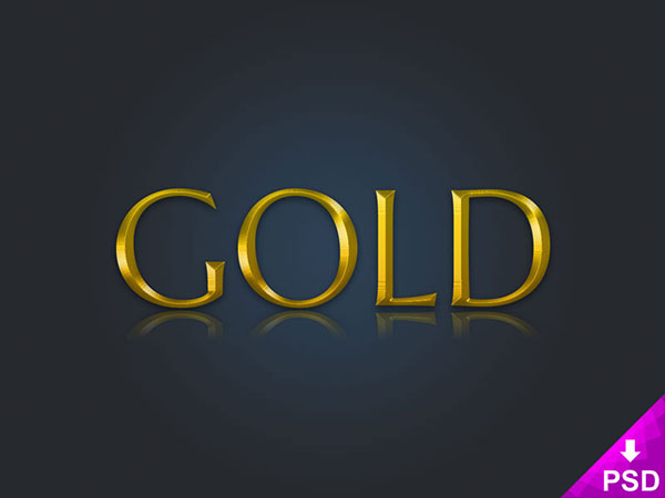 Free Gold Text Layer Style Psd