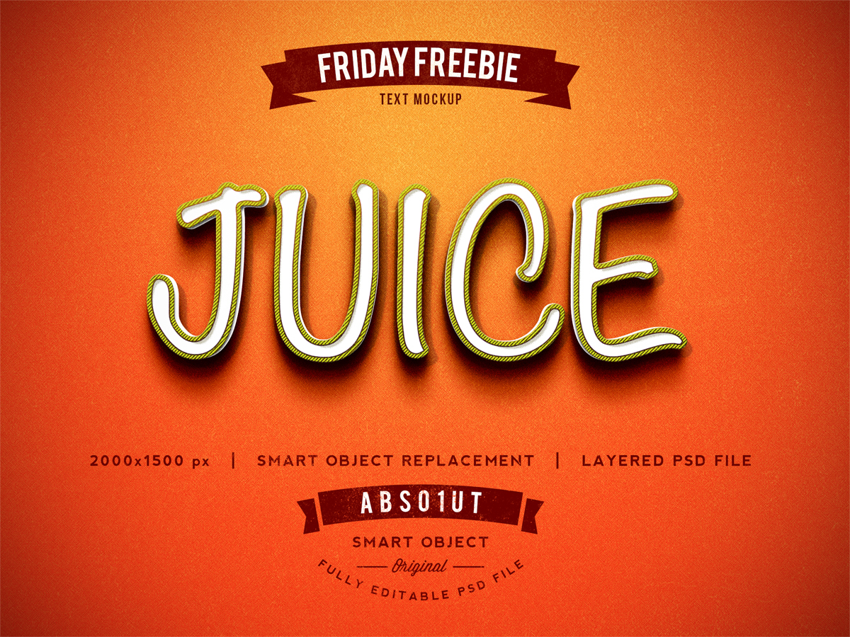 Free Juice Photoshop Text Effect Psd -1