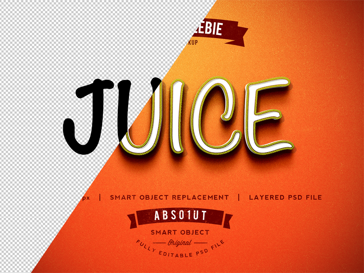 Free Juice Photoshop Text Effect Psd -2