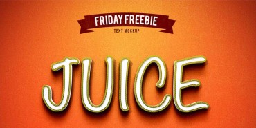 Free Juice Photoshop Text Effect Psd