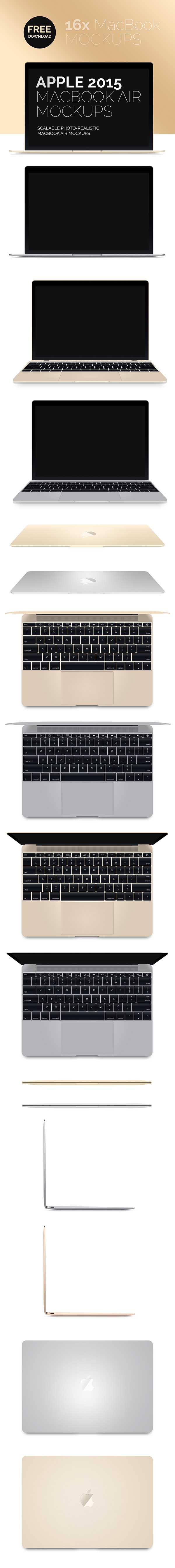 Free Latest New MacBook 2015 PSD MockUps