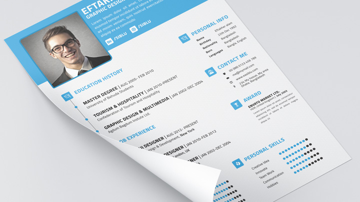 free professional resume template business