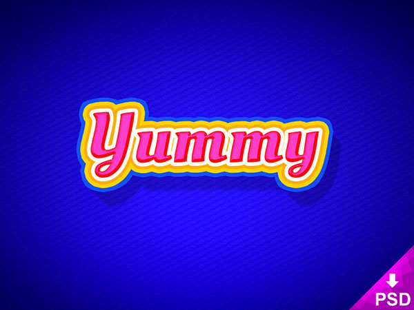 Free Yummy Text Style Psd