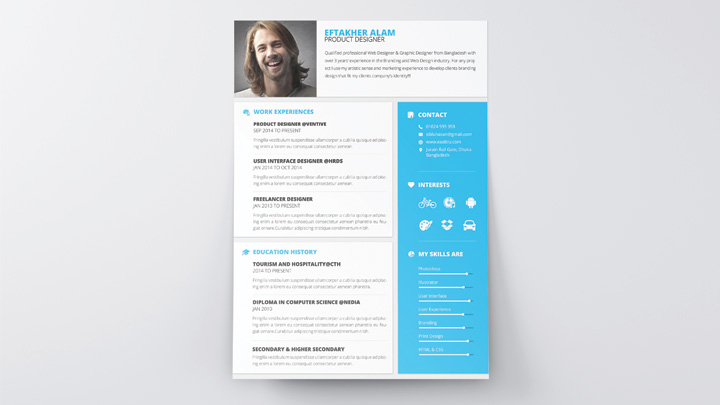5 free fully customizable cv