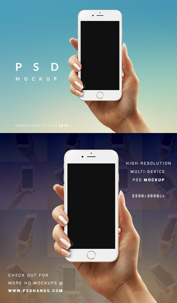 iPhone 6 Hand Carry MockUp PSD