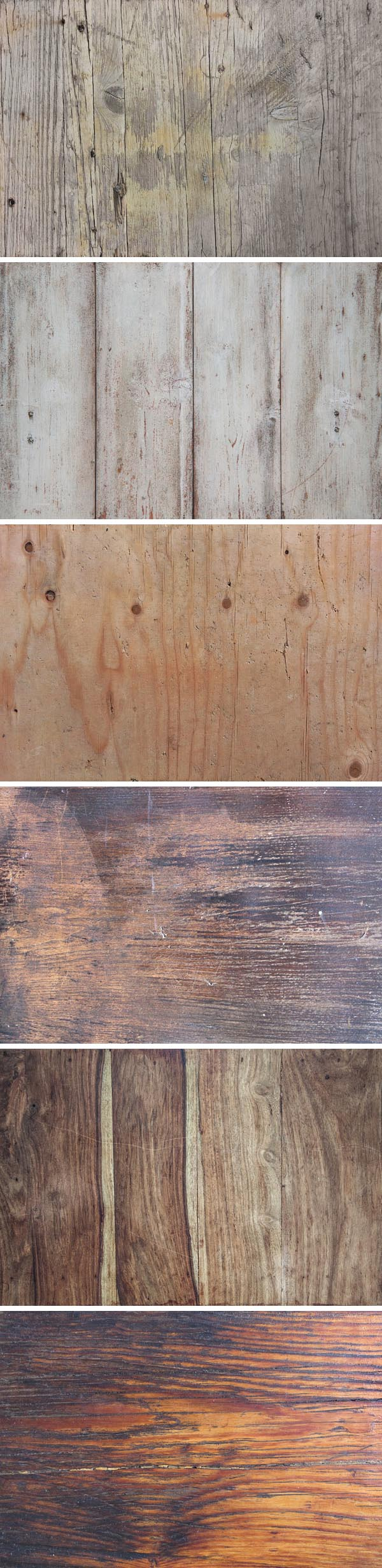 Free 6 Vintage Wood Textures Backgrounds