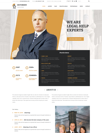 Defender-wp-theme wordpress