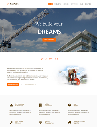 Megalith-wp-theme wordpress