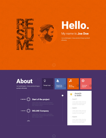 Resume-wp-theme wordpress