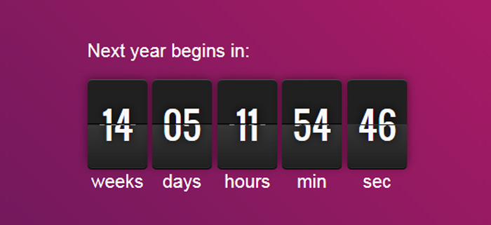 A Free Simple and html Agnostic Date Countdown Plugin For jQuery