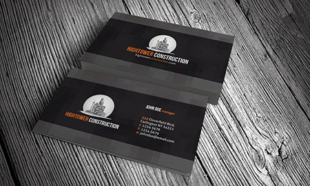 CP00009 Corporate Construction Business Card Templates