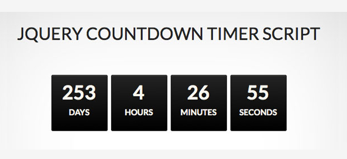 Free Download jQuery Countdown Timer Script