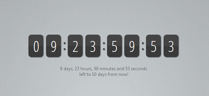 Free jQuery Countdown Timer Download