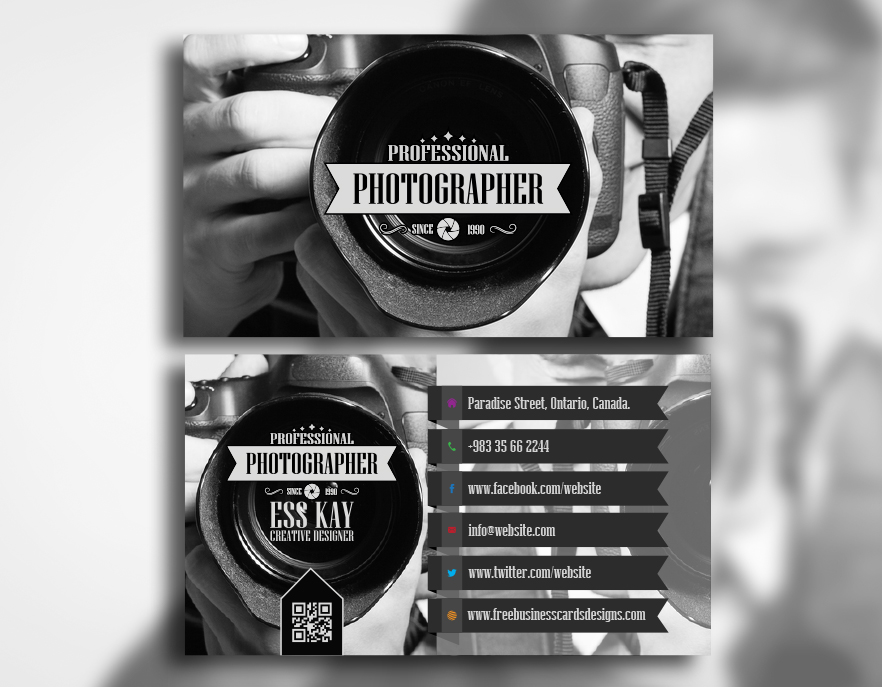 Free professional photographer business card reheart Images