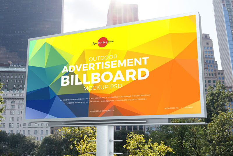 Free-City-Outdoor-Advertisement-Billboard-Mockup