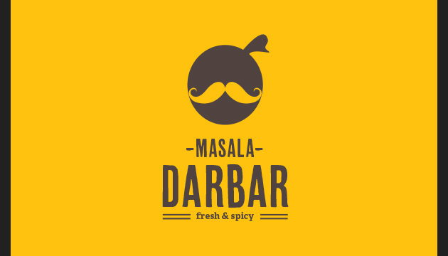 Masala-Darbar-Indian-Cafe-Restaurant-Logo-Design-by-Jekin-Gala
