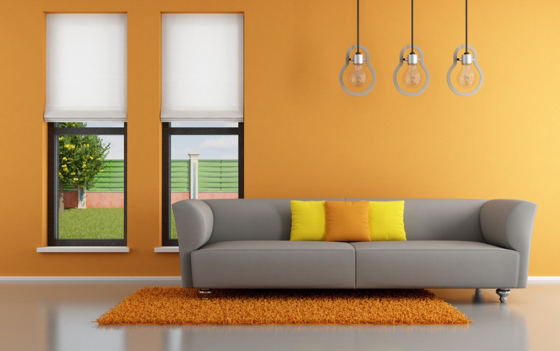 Orange-Wall-Interior-Design