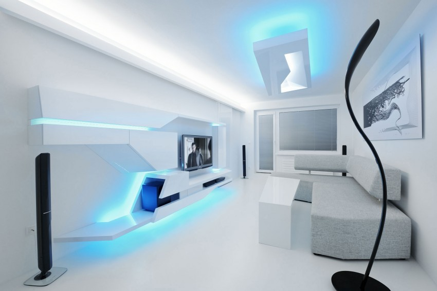 White Apartment 03 850x566 15 Beautiful Interior Design Ideas. Modern  Interior Design House.