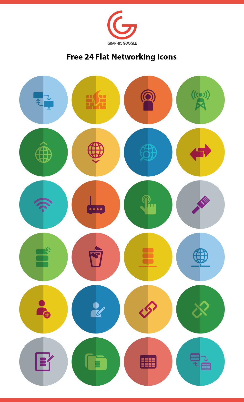 24 Free Networking Web Icons