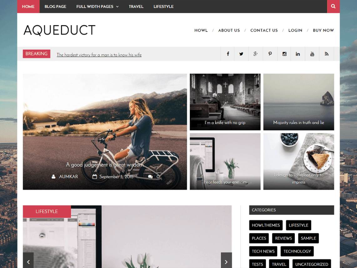 Free Customize Minimal Magazine Blog Theme