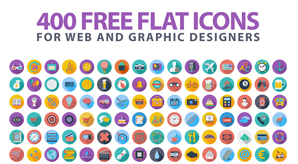 Latest 400 Free Flat Icons For 2016