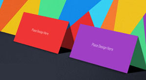 Free Tutti Frutti Business Card Mockup Psd