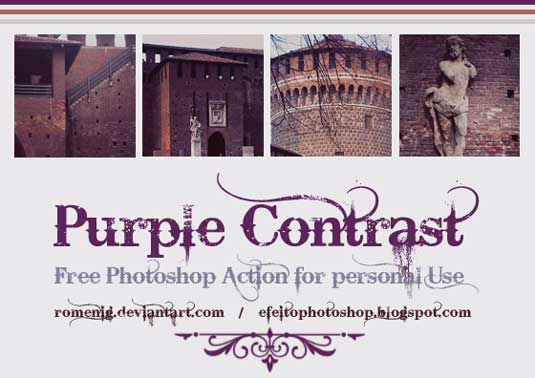 purplecontrast-Photoshop action