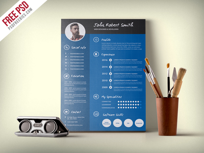 creative-and-professional-resume-cv-free-psd-template